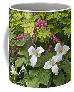 Trillium And Bleeding Hearts1079 Coffee Mug
