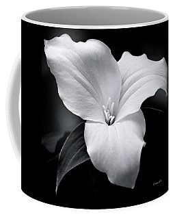 Coffee Mug featuring the photograph Trillium Black And White by Christina Rollo