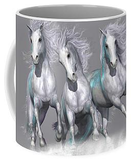 Trinity Galloping Horses Blue Coffee Mug