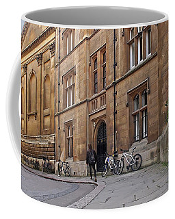 Coffee Mug featuring the photograph Trinity Lane Clare College Cambridge Great Hall by Gill Billington