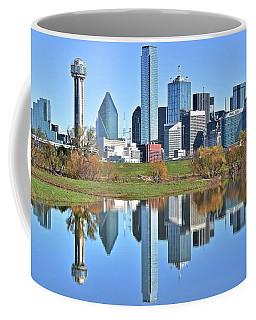 Trinity Park Water Reflects The Big D Coffee Mug