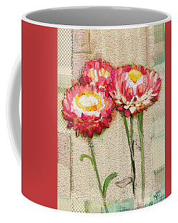 Coffee Mug featuring the painting Trio by Carrie Joy Byrnes