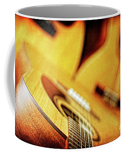 Trio Of Acoustic Guitars Coffee Mug by Lincoln Rogers