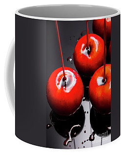 Trio Of Bright Red Home Made Candy Apples Coffee Mug