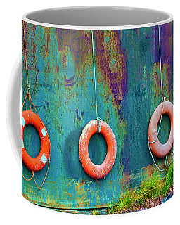 Trio Of Life Buoys Coffee Mug