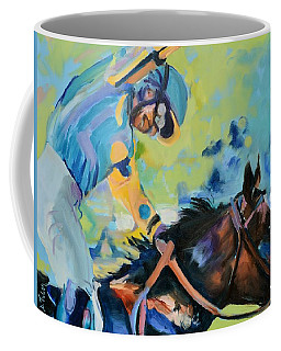 Triple Crown Champion American Pharoah Coffee Mug by Donna Tuten
