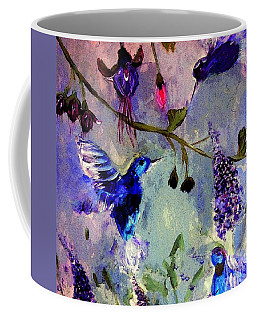 Coffee Mug featuring the painting Triple Hum by Lisa Kaiser