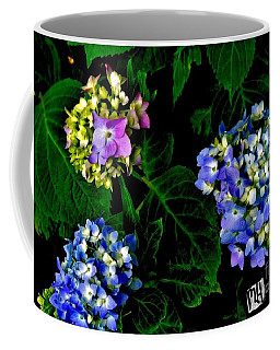 Coffee Mug featuring the photograph Triple Hydrangia In Spring by Marsha Heiken