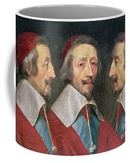 Triple Portrait Of The Head Of Richelieu Coffee Mug