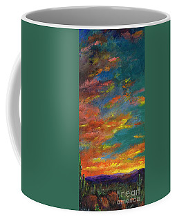 Triptych 1 Desert Sunset Coffee Mug by Frances Marino