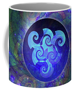 Coffee Mug featuring the digital art Triskelion by Kenneth Armand Johnson