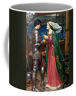Coffee Mug featuring the painting Tristan And Isolde With The Potion by John William Waterhouse