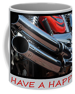 Coffee Mug featuring the photograph Triumph 8 - Have A Happy Birthday Card by Wendy Wilton