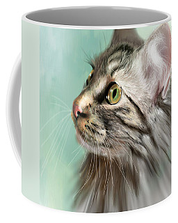 Trixie The Maine Coon Cat Coffee Mug