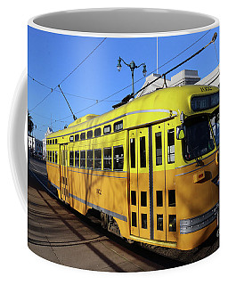 Coffee Mug featuring the photograph Trolley Number 1052 by Steven Spak