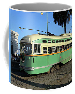 Coffee Mug featuring the photograph Trolley Number 1058 by Steven Spak