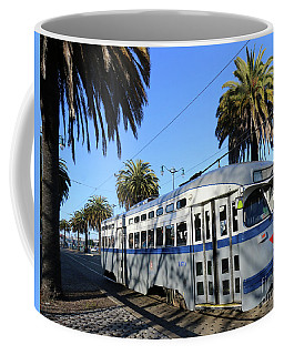 Coffee Mug featuring the photograph Trolley Number 1070 by Steven Spak