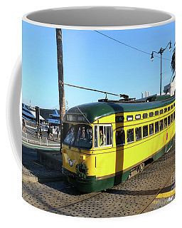 Coffee Mug featuring the photograph Trolley Number 1071 by Steven Spak