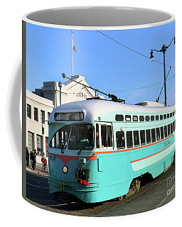 Coffee Mug featuring the photograph Trolley Number 1076 by Steven Spak