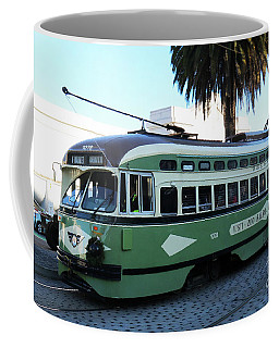 Coffee Mug featuring the photograph Trolley Number 1078 by Steven Spak