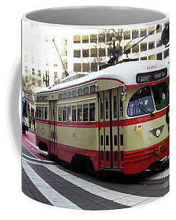 Coffee Mug featuring the photograph Trolley Number 1079 by Steven Spak
