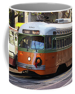 Coffee Mug featuring the photograph Trolley Number 1080 by Steven Spak