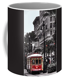 Trolley On Bourbon And Canal  Coffee Mug by Tammy Wetzel