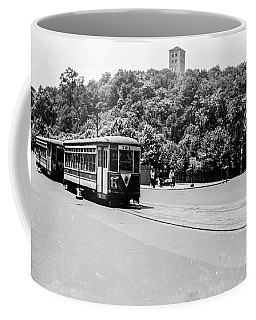 Coffee Mug featuring the photograph Trolley With Cloisters by Cole Thompson