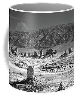 Trona Pinnacles With The Moon Coffee Mug by Marius Sipa