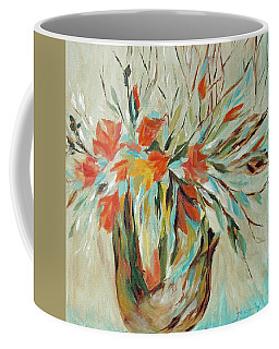Coffee Mug featuring the painting Tropical Arrangement by Joanne Smoley