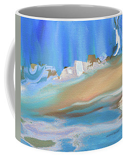 Tropical Beach Abstract Coffee Mug by Lenore Senior