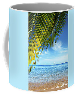 Tropical Beach Coffee Mug by Carlos Caetano
