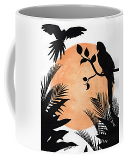 Tropical Birds Coffee Mug by Edwin Alverio