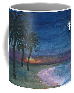 Coffee Mug featuring the painting Tropical Christmas by Donna Walsh