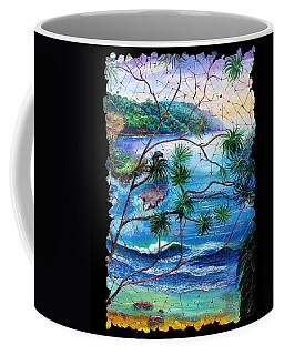Tropical Cove  Fresco Triptych 2 Coffee Mug