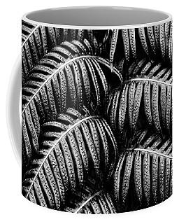 Tropical Fern Black White Coffee Mug