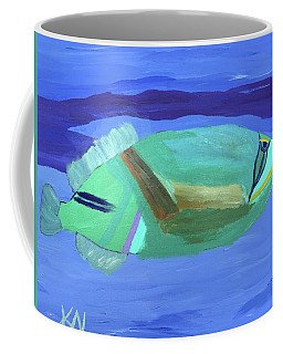 Coffee Mug featuring the painting Tropical Fish by Karen Nicholson