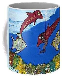 Coffee Mug featuring the painting Tropical Fun by Jonathon Hansen