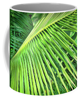Coffee Mug featuring the photograph Tropical Green by Ann Powell