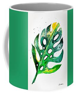 Tropical Greenery - Philodendron Leaf Coffee Mug