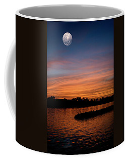 Coffee Mug featuring the photograph Tropical Moon by Laura Fasulo