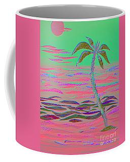 Hot Pink Coconut Palm Coffee Mug