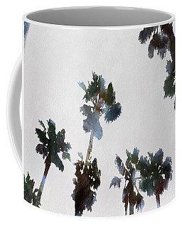 Coffee Mug featuring the painting Tropical Palms by Tracey Harrington-Simpson