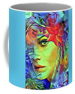 Coffee Mug featuring the digital art Tropical Paradise by Kathy Kelly