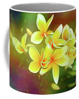 Coffee Mug featuring the photograph Tropical Plumeria Art By Kaye Menner by Kaye Menner