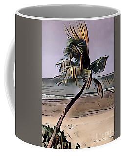 Coffee Mug featuring the digital art Tropical Seascape Digital Art A7717  by Mas Art Studio