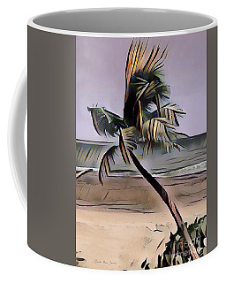 Coffee Mug featuring the digital art Tropical Seascape Digital Art A7717l by Mas Art Studio