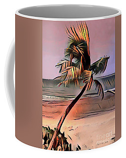 Coffee Mug featuring the digital art Tropical Seascape Digital Art E7717 by Mas Art Studio
