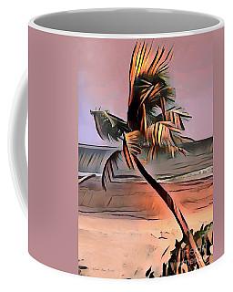 Coffee Mug featuring the painting Tropical Seascape Digital Art E7717l by Mas Art Studio
