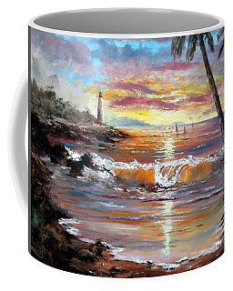 Tropical Sunset Coffee Mug by Lee Piper